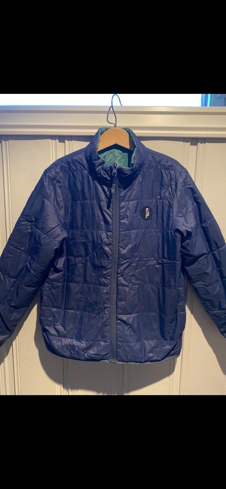 Vendbar pompdelux jakke i str 110 | FINN.no