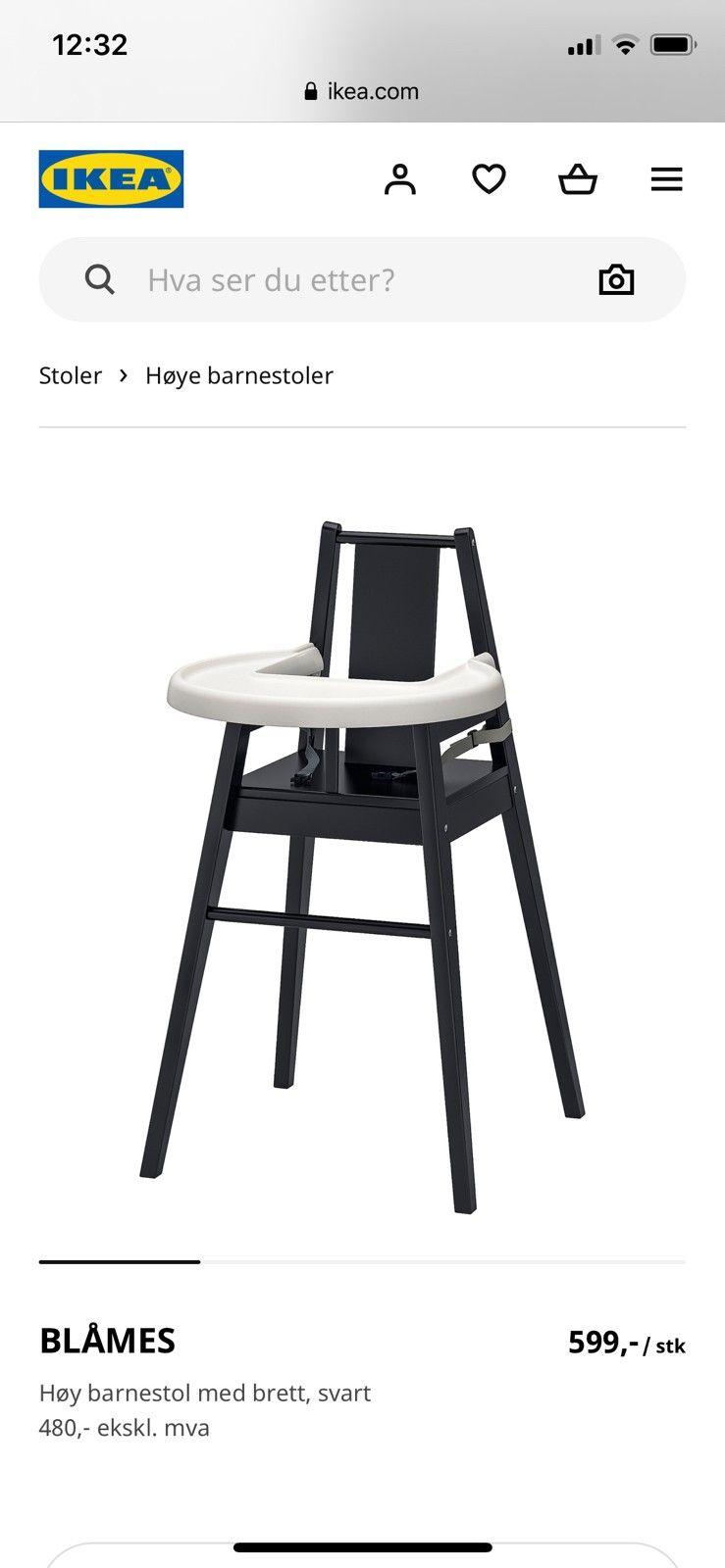Ikea Barnestoler   FINN.no