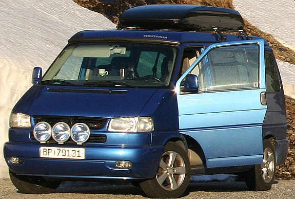 Volkswagen transporter høyde