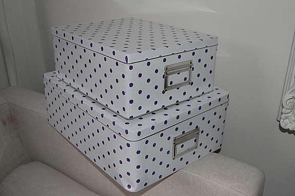 Oppbevaringsbokser fra House Doctor.Selges som sett for 250kr. Har 2 sett igjen. Den største boksen 30 cm bredt, 40 cm langt.