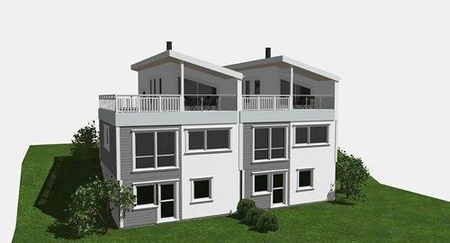 Stor moderne tomannsbolig med 4/5 soverom og takterrasse - under oppføring.