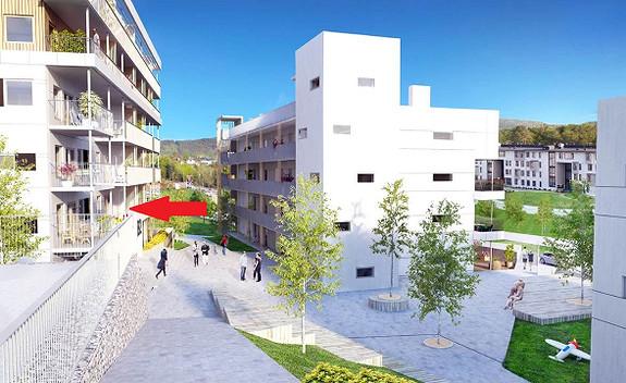 Råstølen Park trinn 1 -  3 roms leilighet med balkong mot sørvest. Garasjeplass og bybanestopp,
