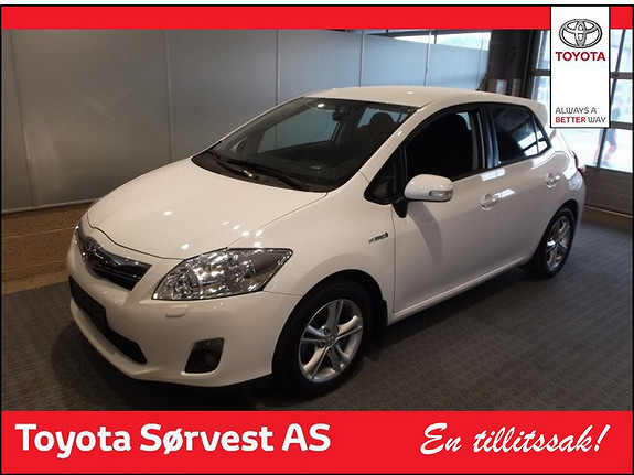 Toyota Auris 1,8 Hybrid Advance HSD  2012, 19000 km, kr 209000,-