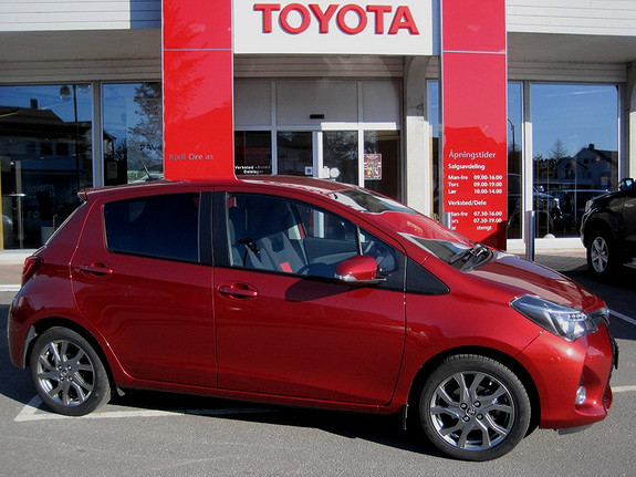 Toyota Yaris 1,33 Style e-CVT Nyeste modell, reg.  2014, 3541 km, kr 205000,-