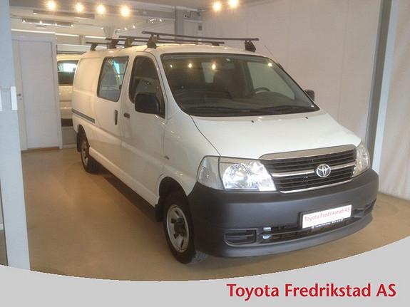 Toyota HiAce D-4D 5-d 117hk 4WD lang 2-seter LANG HI-ACE, FIREHJULSTREKK, A/C, H.FESTE  2010, 80100 km, kr 169000,-