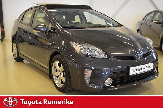 Toyota Prius 1,8 VVT-i Hybrid Premium Solcelle, soltak og radar cruise  2013, 21800 km, kr 269000,-
