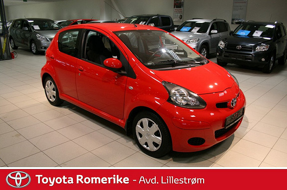 Toyota Aygo 1,0 + 5-d m/AC - Antispinn ++  2011, 27005 km, kr 105000,-