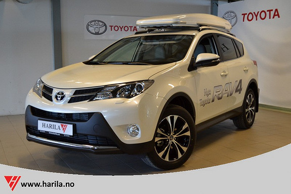 Toyota RAV4 2,0 D-4D 4WD Executive Navi, Ryggekamera, KeyLessGO, DAB, Skinn  2015, 5000 km, kr 419000,-