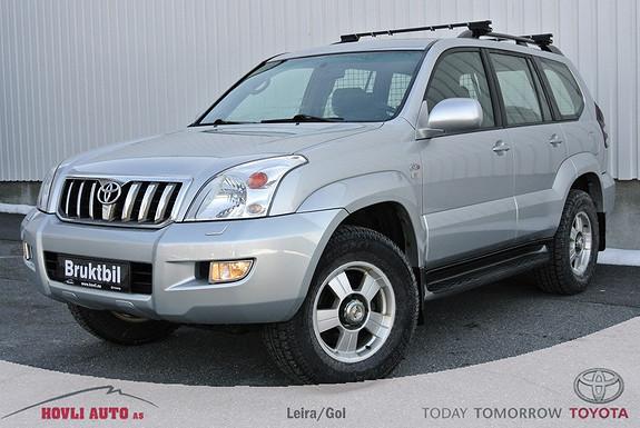 Toyota Land Cruiser 3,0 D-4D Manuellt gir, hengerfeste, ac og servicehefte. Pen!  2006, 241454 km, kr 249000,-
