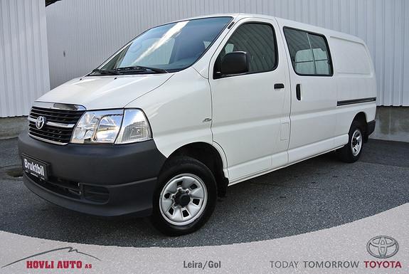Toyota HiAce D-4D 5-d 117hk 4WD lang hengerfeste, Radio/cd. Nybilgaranti  2012, 94000 km, kr 219900,-