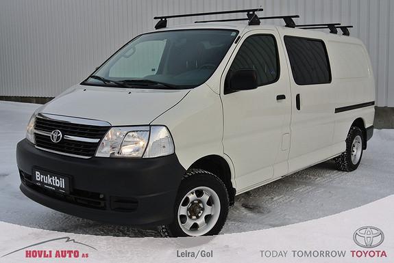 Toyota HiAce D-4D 5-d 117hk 4WD lang , 1 år garanti.  2010, 98000 km, kr 219000,-