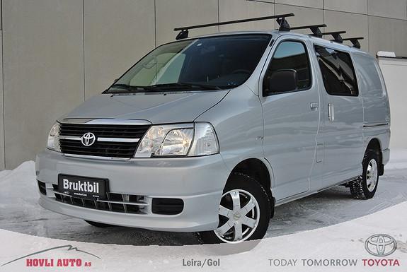 Toyota HiAce D-4D 5-d 117hk 4WD kort Hengerfeste - Takstativ - A/C - Pen - 1 års garanti  2011, 55751 km, kr 239900,-