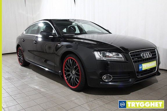 Audi A5 Sportback 2,0 TDI 170 hk quattro Utv S-line, Navi-Skinn-Soltak-Blutooth-Flott bil!