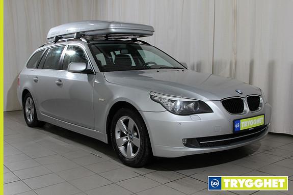 BMW 5-serie 520d Touring Automat Navi, panorama,el.seter med memory,automat,meget pen bil,177hk