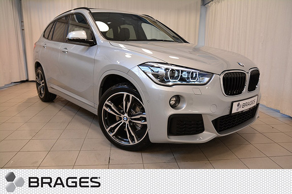 BMW X1 xDrive 18D 150HK AUT NORSK MSPORT SKINN SOLTAK LED HEADUP KROK EL.SETER+++  2017, 1700 km, kr 612000,-
