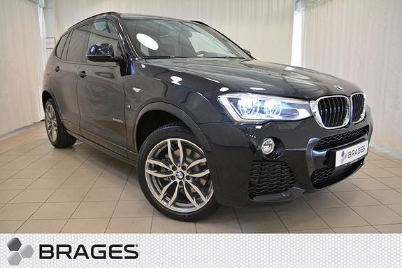 BMW X3 xDrive 190 HK MSPORT NORSK KROK HEADUP PANORAMA SKINN NAVI AKTIV CRUISE LED+++++  2017, 1750 km, kr 748000,-