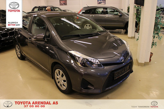 Toyota Yaris 1,5 Hybrid Active Pen og hel bil ryggekamera, automat, meget bensingjerrig  2014, 49700 km, kr 169000,-