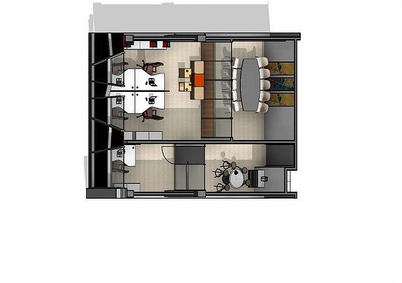 Ledig lokale i 3. etasje. 99 m2.
