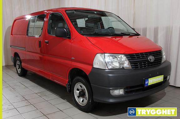 Toyota HiAce D-4D 5-d 117hk 4WD lang 4wd,hengerfeste, pen bil