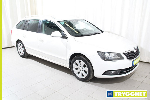 Skoda Superb 1,6 TDI 105hk Ambition Business m/ skinn, fjernstyrt webasto +++
