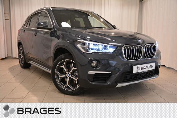 BMW X1 xDrive 18D 150HK AUT NORSK XLINE SKINN PANORAMA LED AKTIV CRUISE HEADUP NAVI +++  2017, 1700 km, kr 584000,-