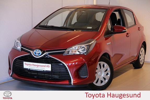 Toyota Yaris 1,5 Hybrid Active e-CVT Navigasjon, kamera, Bluetooth, autoklima - norsksolgt -  2015, 48046 km, kr 185000,-