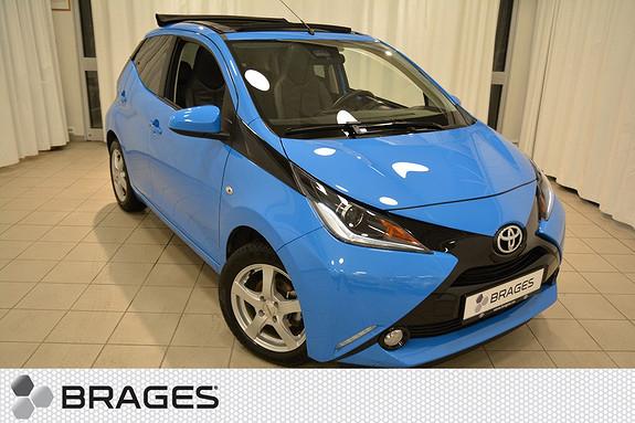 Toyota Aygo x-wave 1,0 SKINN / ÅPENT TAK / KAMERA / AUX-USB +++ SJEKK DENNE !!!  2015, 10200 km, kr 159000,-