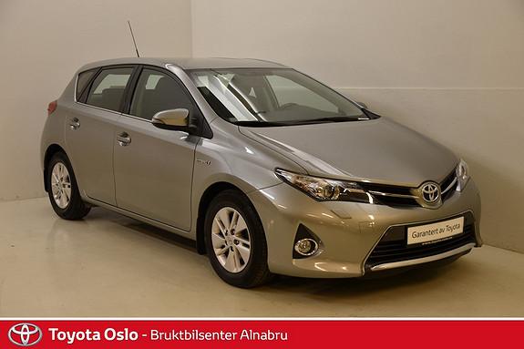 Toyota Auris 1,8 Hybrid E-CVT Active DAB+, Navi,  2013, 71732 km, kr 194900,-