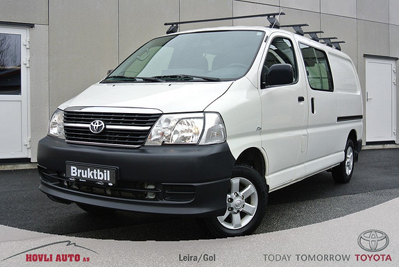 Toyota HiAce D-4D 5-d 117hk 4WD lang H.feste - Lastastativ - A/C - Tectyl - 1 års garanti  2011, 67875 km, kr 239900,-