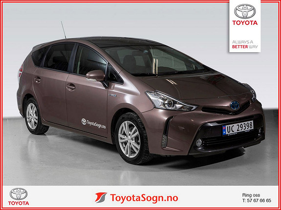 Toyota Prius 1,8 VVT-i Hybrid Executive Skyview  2015, 14000 km, kr 369000,-