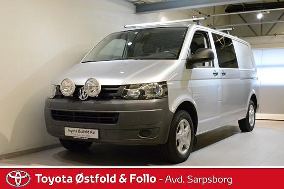 Volkswagen Transporter 2,0 TDI 140hk 4Motion m/vindu lang , WEBASTO/DAB RADIO,  2010, 80485 km, kr 208000,-