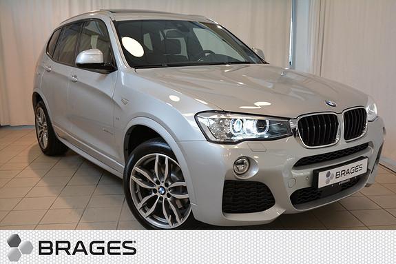 BMW X3 20D 190HK NORSK MSPORT KROK WEBASTO ACTIVE CRUISE PANO SKINN+++  2016, 1680 km, kr 709000,-