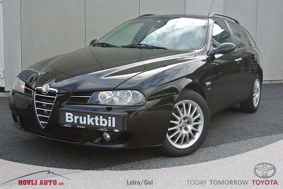 Alfa Romeo 156 Sportwagon 1,6 Twin Spark EU OK 2018 - Automatisk klima - Aircondition  2006, 154200 km, kr 49900,-