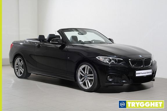 BMW 2-serie 220i Cabriolet aut Sportsautomat/M-Sport/Skinn/NaviProff/HiFi/DAB/Xenon/Cruise ++