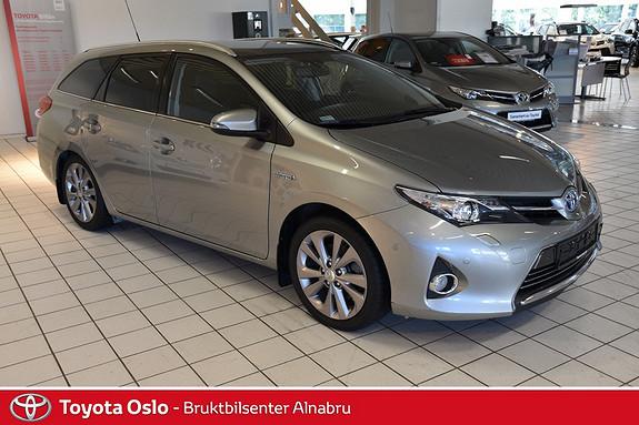 Toyota Auris Touring Sports 1,8 Hybrid Executive Navi, glasstak, DAB+, Hengerfeste, Park sensor  2013, 41670 km, kr 254900,-