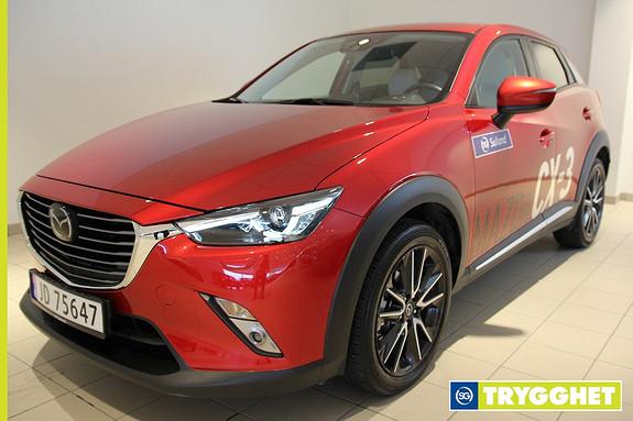 Mazda CX-3 2,0 150hk Optimum AWD aut Demobil/Alt utstyr/Skinn/Navi/HUD/Kamera/Bose+++