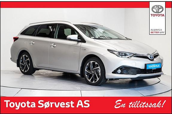 Toyota Auris 1,8 Hybrid E-CVT Style (3 år/45000 km service og 3 år dekkhotel ink i pris)  2015, 6261 km, kr 299000,-