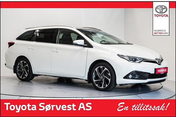 Toyota Auris Touring Sports 1,2 Style (3 år/45 000 km service og 3 år dekkhotel ink)  2015, 16604 km, kr 279000,-