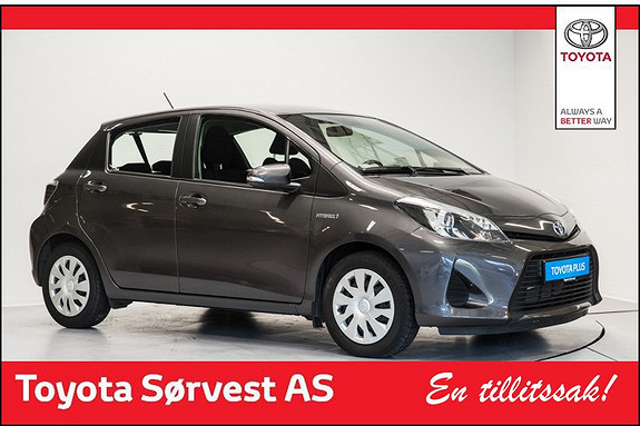 Toyota Yaris 1,5 Hybrid Active (3år/45000 km Service og 3 år dekkhotel ink)  2014, 22479 km, kr 189000,-