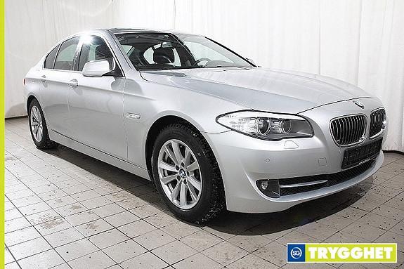 BMW 5-serie 520d 163hk Automat Xenon-H.feste-NaviProff-Blåtann-PDC-Sportsseter-Delskinn-Alarm