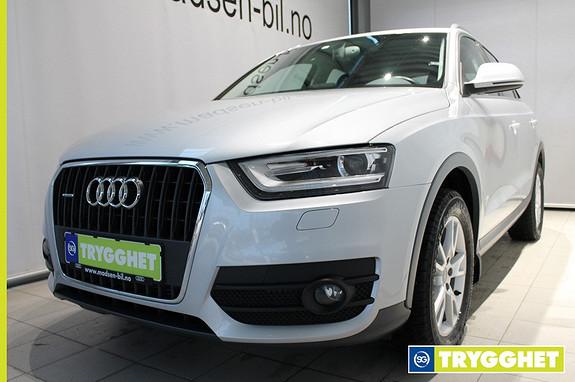 Audi Q3 2,0 TDI 177 hk quattro S tronic Bluetooth, Bi-xenon, Innfb. hengerfeste, Cruise