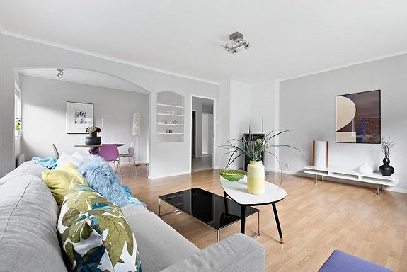 Laksevåg - Bo sentralt i en stor 3-roms andelsleilighet med lave felleskostnader