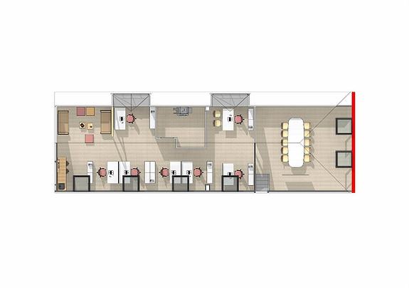 Forslag til innredning 3 etg. 178 m2.