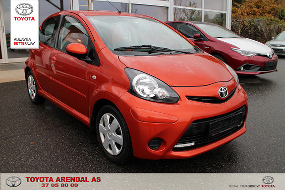 Toyota Aygo 1,0 + Orange 5-d  2012, 52000 km, kr 89000,-