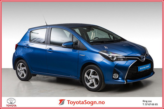 Toyota Yaris 1,5 Hybrid Active+ e-CVT aut  2016, 24200 km, kr 199000,-