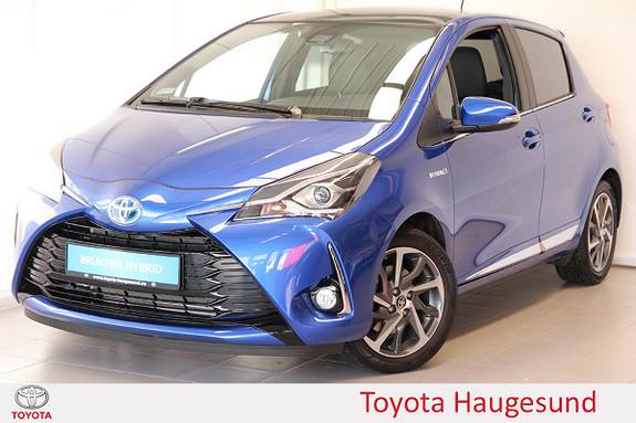 Toyota Yaris 1,5 Hybrid Style e-CVT Navi, delskinn, kamera, Tectyl  2017, 3315 km, kr 245000,-