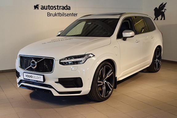 Volvo XC90 T8 407hk R-Design AWD B&W, HeadUP,360kamera, Luftfjæring  2017, 24000 km, kr 924000,-