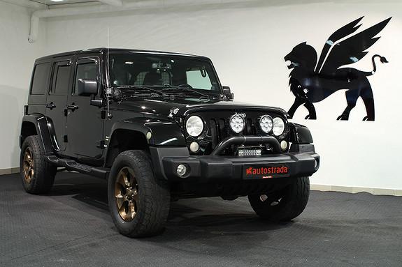 Jeep Wrangler Godkj. hevet 2'' Sahara Lyktebøyle fra A/T Vision X  2013, 84000 km, kr 359000,-