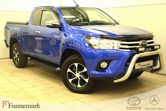 Toyota HiLux D-4D 150hk X-Cab 4WD SR Led extra lys, demo/adm bil.Dab  2016, 17000 km, kr 389000,-