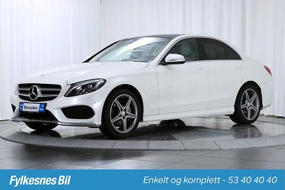 Mercedes-Benz C-Klasse C200 Aut DAB+, AMG, Comand, Soltak, Airmatic  2015, 104000 km, kr 359900,-